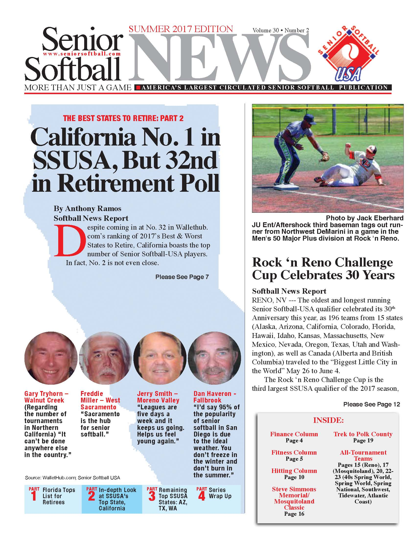 SENIOR SOFTBALL NEWS SUMMER 2017 EDITION AVAILABLE TO DOWNLOAD! |